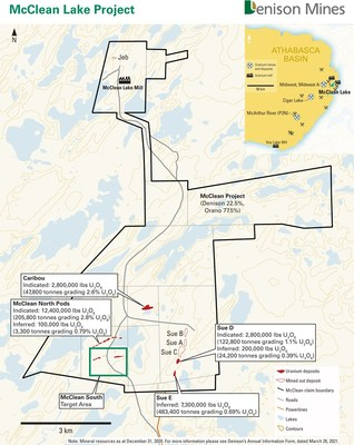 Figure 1 - McClean Lake Project Claims (CNW Group/Denison Mines Corp.)